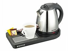 Buckingham Compact Welcome Tray - Black (With 1L Kettle) by Corby