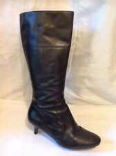 George Black Knee High Leather Boots Size 7