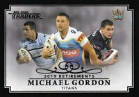 2020 TRADERS RETIREMENTS PARALLEL CASE CARD RP3 MICHAEL GORDON GOLD COAST #07