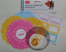 Jam Pot Preserve Jar Covers, Labels & Wax Circles 1lb 1 lb jar pk 12 by Tala