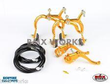 Dia-Compe MX890 - MX123 Gold & Black Brake Set - Old School BMX Style Brakes