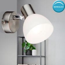 Wand Strahler Wohn Schlaf Zimmer Beleuchtung Glas Spot Lese Lampe verstellbar