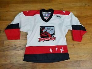 NICE Youth Small Las Vegas Wranglers ECHL Jersey White Reebok Kids Hockey Boys S