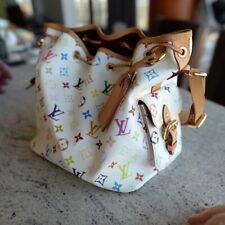 Limited Louis Vuitton Monogram Petit Noe Multicolor Murakami ladies tote bag