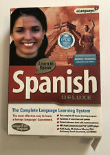 Learn To Speak Spanish Deluxe (5 CD's, 2005) eLanguage Complete Learning System