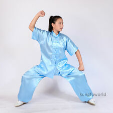 8 Colors Kids Adults Tai chi Uniform Martial arts Kung fu Wing Chun Suit Clothes