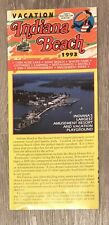 Indiana Beach Amusement Park Brochure Pamphlet 1993 Monticello IN Lake Shafer