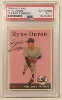 1958 Topps Signed Autographed RYNE DUREN Baseball Card PSA/DNA
