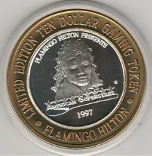 VINTAGE 1997 Flamingo Hilton Reno Michael Jackson .999 Fine Silver $10 Token