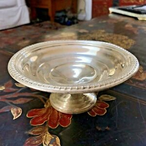 "EMPIRE Sterling Silver Weighted Compote Candy Dish Footed Bowl  6"" W 2.5"""