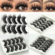 3D Mink Eyelashes 5 Pairs Natural False Fake Long Thick Handmade Lashes Makeup