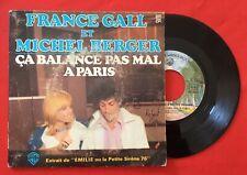 FRANCE GALL MICHEL BERGER ÇA BALANCE PAS MAL À PARIS 16785 VG+ VINYLE 45T SP