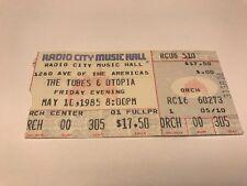 Rare Tubes & Utopia Original Concert Ticket Stub 5/10/85 Radio City Nyc