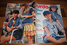 BURDA MODE für MÄDCHEN+JUNGEN Frühjahr-Sommer 1994 -- HIPPIE-LOOK + FLOWER POWER