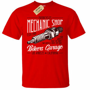 Mechanic Shop T-Shirt Mens bikers garage motorbike motorcycle