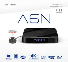 Smart Tv Box Android Amiko A6N 4K HDR H.265 Android Nougat Wi-Fi Amlogic S905X