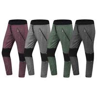NEW Men Biker Joggers Fleece Pants Zipper Pocket Stacked Elastic Stretchy S-XL