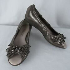 The Flexx 6 Open Toe Flats Metallic Comfort Shoes Bow Commotion Canna Milz EU 37