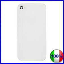 COVER SCOCCA VETRO POSTERIORE DI RICAMBIO PER iPHONE 4 4G BIANCO