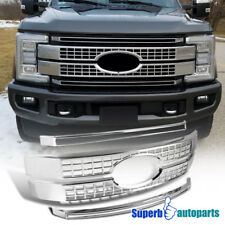 2017-2018 F250 F350 F450 F550 SuperDuty Front Hood Cover Grille Chrome Set Of 4