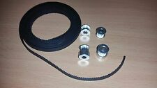 3d printer Belt and Pulley Kit (Anet, RepRap, I3) 16t toothed pulleys +2