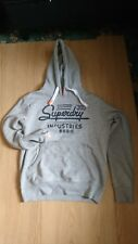NEW MENS RRP£49.99 XXL CHEST SIZE 44 SUPERDRY INDUSTRIES ENTRY HOODIE GREY MARL