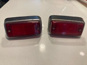 Original 72-79 Datsun 620 Rear Red Marker Lamp Lenses and assembly units. Rare