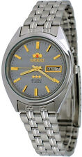 Orient FEM0401PK Men's 3 Star Stainless Steel Grey Dial Automatic Watch