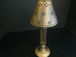 """Copper Votive Lamp and Shade, 13"""", All Metal"""