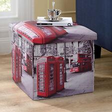 "en.casa Sgabello ""London"" 38x38x38cm Cubo per Sedersi Box Contenitore Cassapanca"