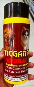 Ticgard Herbal Dusting Powder with citronella oil for cats & Dogs 100g