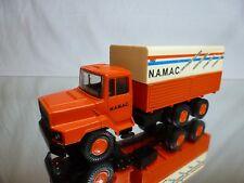 LION CAR 71 DAF NAT 2800 TORPEDO TRUCK - NAMAC 1982 - ORANGE 1:50 - GOOD