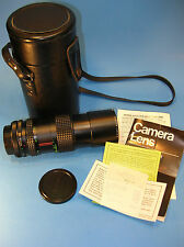 JCPenny  / CANON FD CAMERA 1:4.5f 80-200mm Macro LENS w/ Case, Paperwork