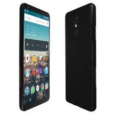 Skinomi Black Carbon Fiber Skin+Clear Screen Protector For LG Stylo 4