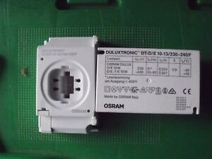 Osram DuluxTronic DT/DE 10/13w Compact Electronic Ballast 1 x 13w DE/TE *NEW*