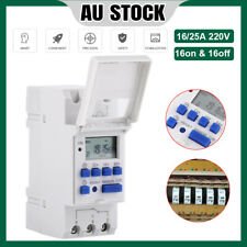 AC 12V-220V Digital LCD Power Programmable DIN Rail Timer Time Switch Relay AU