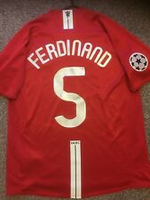 Manchester United 2007/08 Champion League Home Shirt adultes (L) 5 Ferdinand