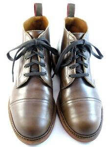 """Allen Edmonds """"PATTON"""" WEATHERPROOF Cap-Toe Boots 8 EEE Natural Chromexcel (550)"""
