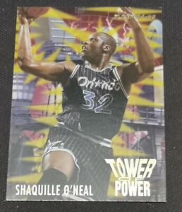 SHAQUILLE O'Neal Fleer 94-95 #8 of 10 (RARE) TOWER OF POWER NBA Card