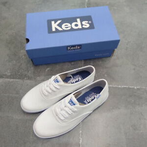 NEW All Size KEDS WOMENS CHAMPION ORIGINALS WHITE SNEAKERS TRAINERS