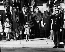 JOHN F KENNEDY JFK SALUTE FUNERAL 8X10 PHOTO