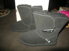 Brand  New Toddler Girls Black Bearpaw Victorian Boots, Size 8