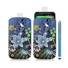 Housse coque étui pochette pour HTC Desire HD avec motif HF09 + Stylet luxe