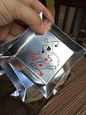 Vintage Aluminum Ashtrays Playing Card Theme Disposable Advertising Circa 1950s