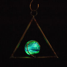 Hanging Triangle Illuminaries set of 4 - Glow in the dark - Sun catchers