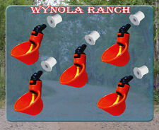 5 Pack Poultry Water Drinking Cups Chicken Hen Plastic Automatic Drinker,Quail