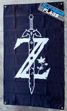 Zelda Flag 3x5 ft Banner Nintendo Video Game Wall Garage Black