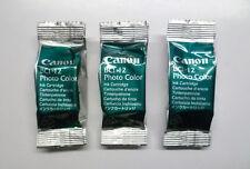 3 x Canon bci-12 bci-12c PC bci12 bjc-85 bjc85 FOTO PHOTO COLOR COLORE
