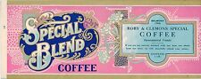 TIN CAN LABEL VINTAGE COFFEE SPECIAL BLEND TYPOGRAPHY ORIGINAL 1920S SPECIAL