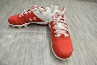 **Under Armour Leadoff Low RM Jr. Baseball Cleats, Little Boy's Size 13, Red NEW